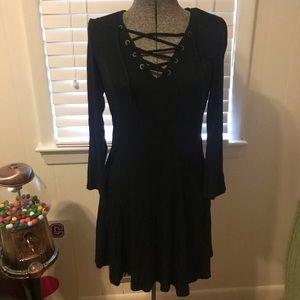 Lace Up Aline Dress